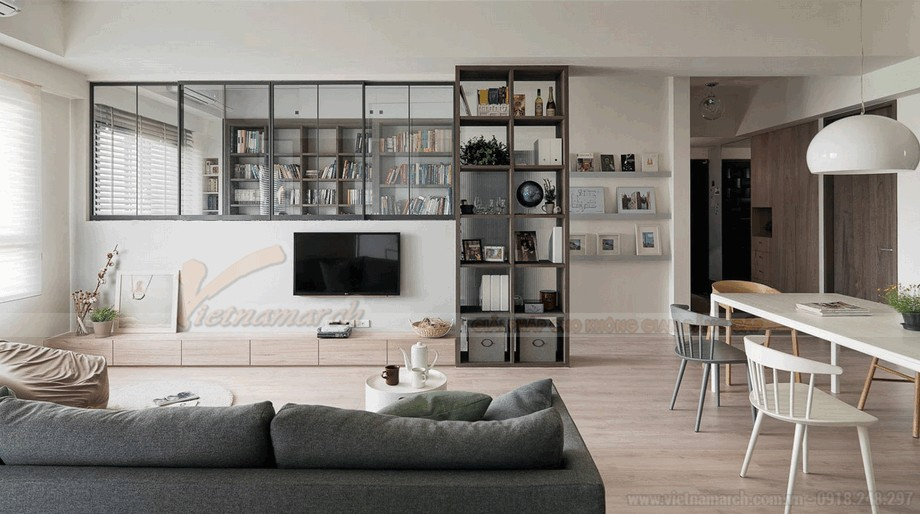 Phòng khách hiện đại đầy tiện nghi