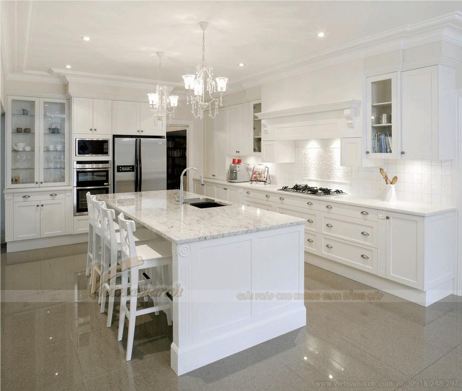 Thiết kế nội thất phòng bếp hiện đại mà sang trọng