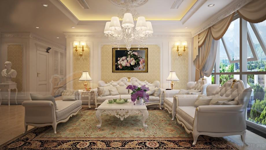Thiết kế phòng khách sang trọng và đẳng cấp