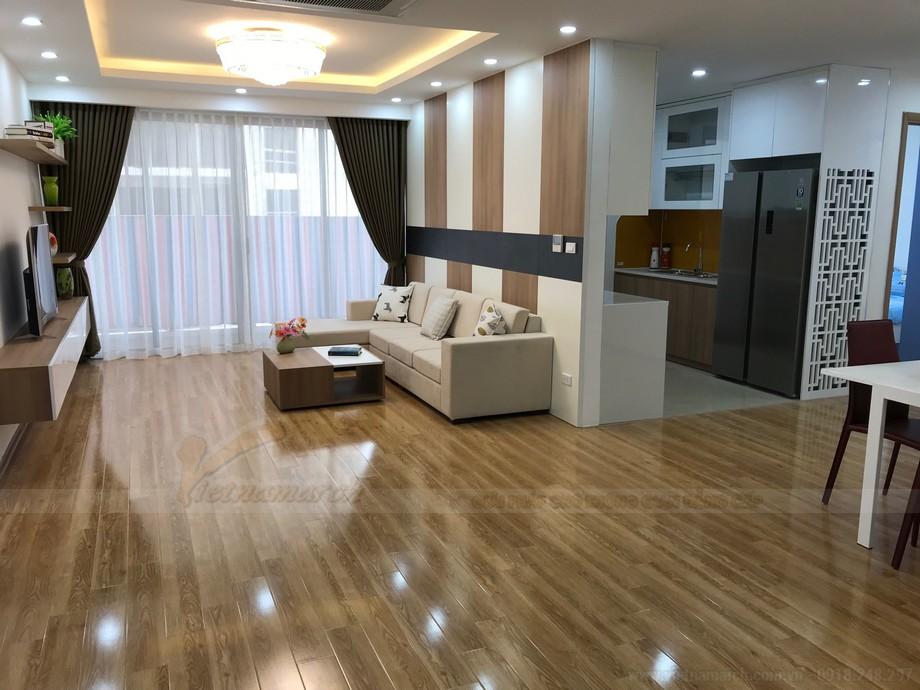 Nội thất phòng khách căn 122m2 chung cư Thống Nhất Complex 82 Nguyễn Tuân