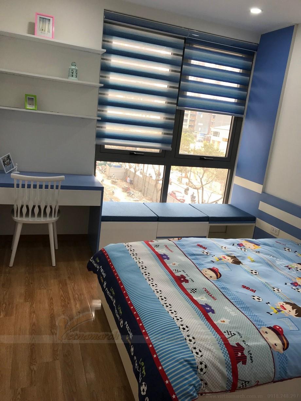 Phòng ngủ và góc học tập vô cùng khoa học dành cho con