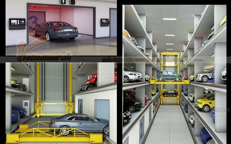 Hệ thống bãi đỗ xe tự động từng tầng có sức chứa rất lớn