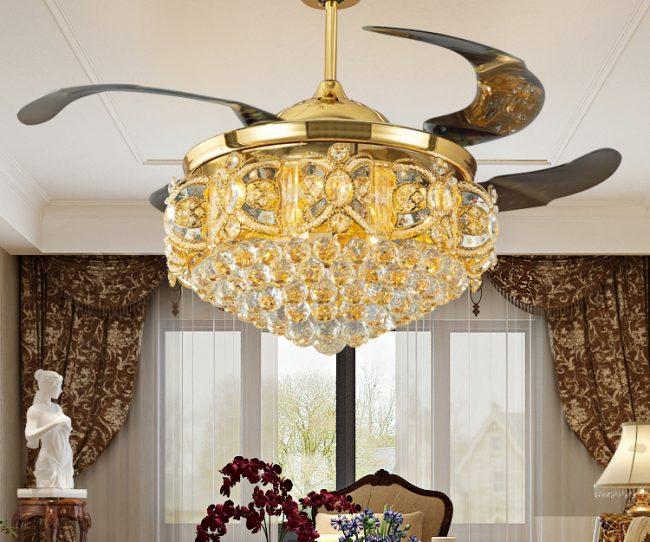Bí quyết chọn quạt trần đèn đẹp hợp phong thủy cho phòng khách