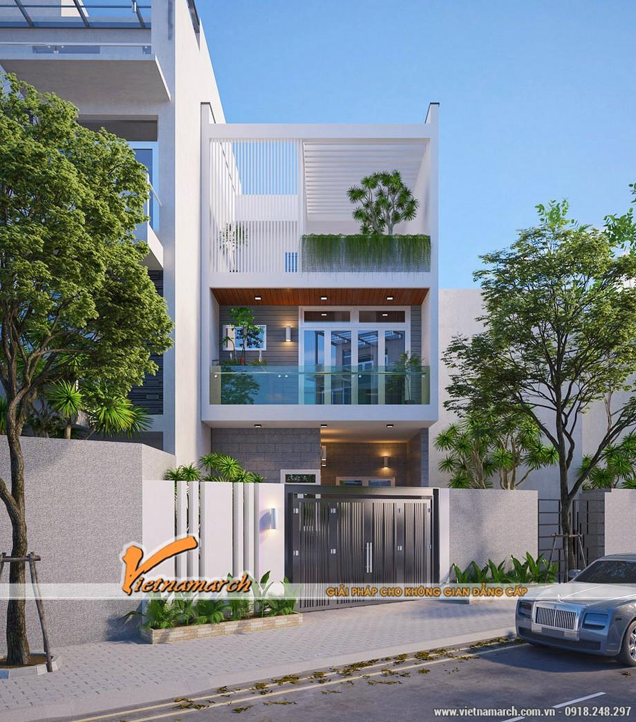 """Mẫu 5: Mẫu nhà với """"vườn trên sân thượng"""""""