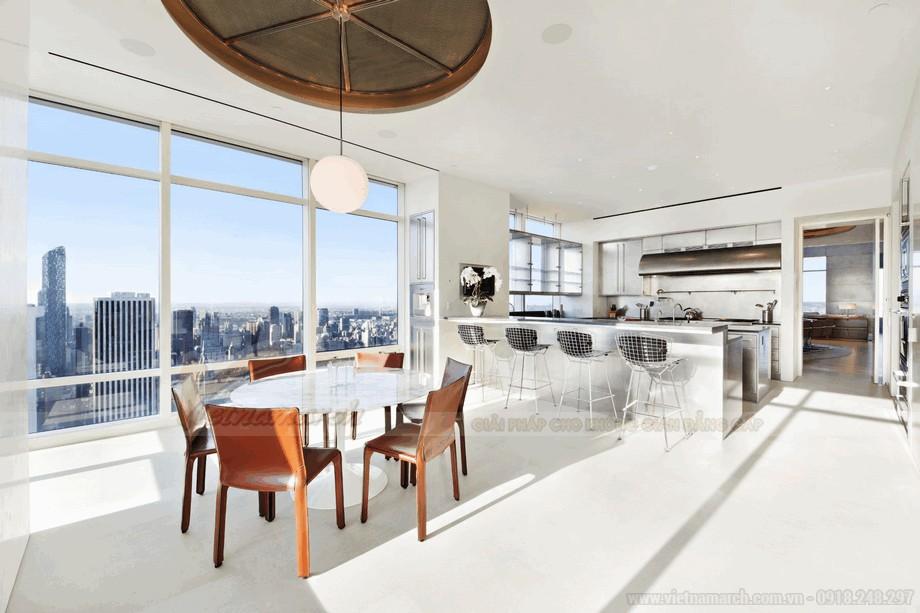 Không gian phòng bếp đầy tiện nghi và snag trọng