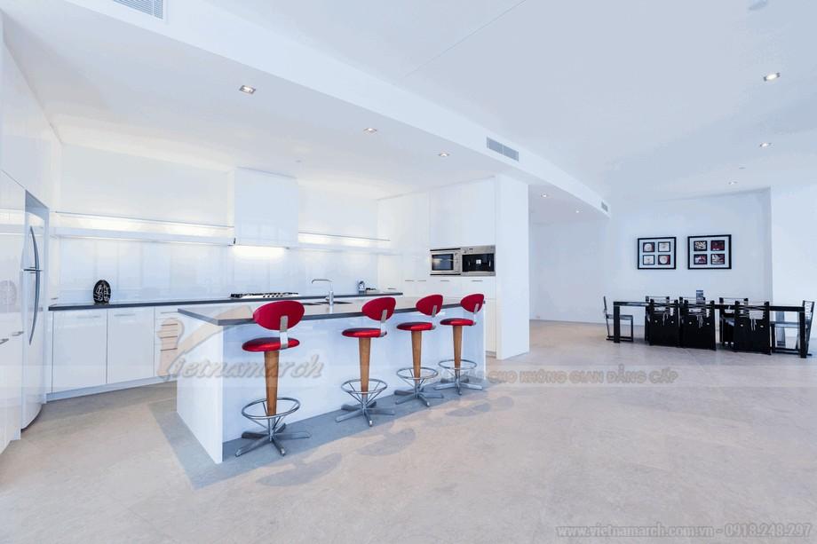 Không gian phòng bếp sang trọng và tiện nghi