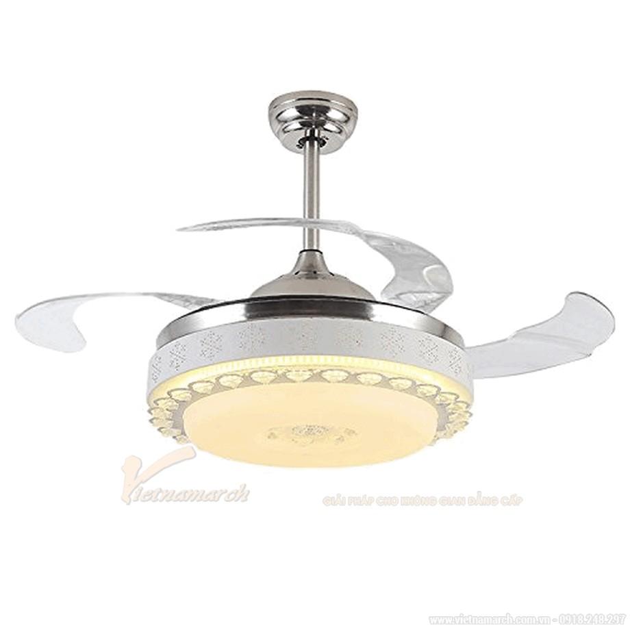 Quạt trần đèn LED cao cấp cho phòng khách thêm quyến rũ