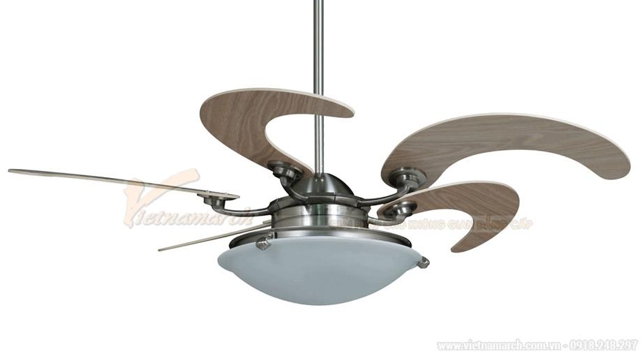 Quạt trần đèn trang trí cánh gỗ đẳng cấp cho không gian của bạn
