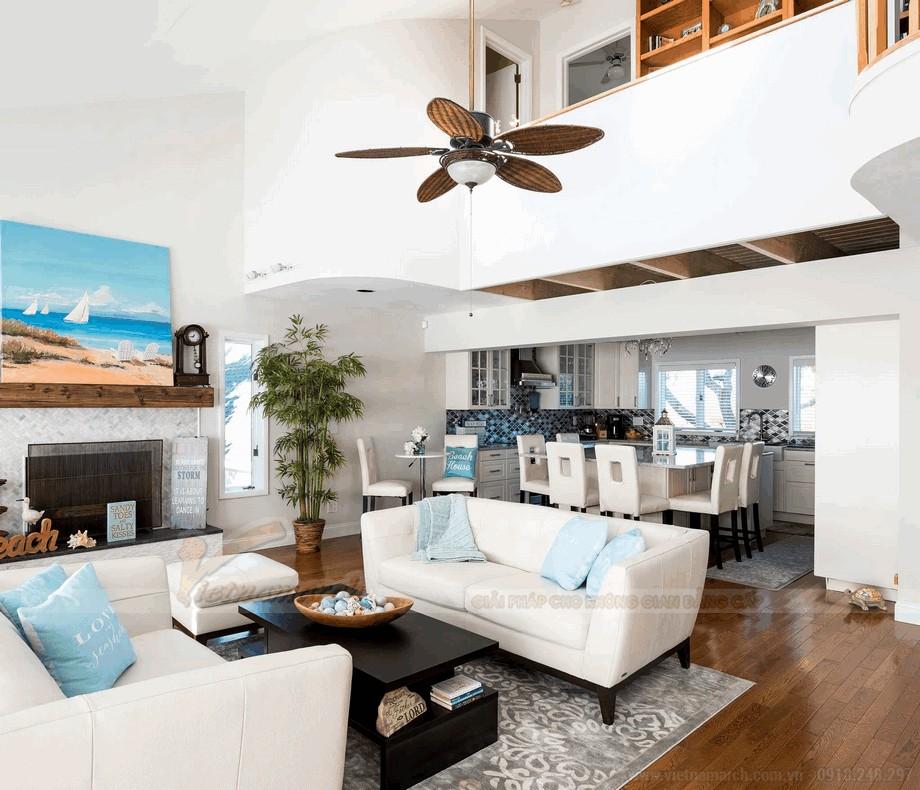 Quạt trần đèn LED cao cấp cho phòng khách thêm sang trọng