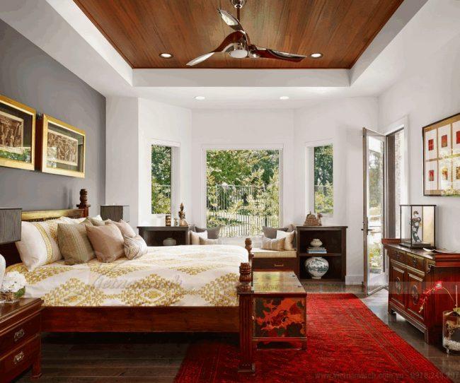 Quạt trần đèn cao cấp tăng thêm phần sang trọng cho phòng khách