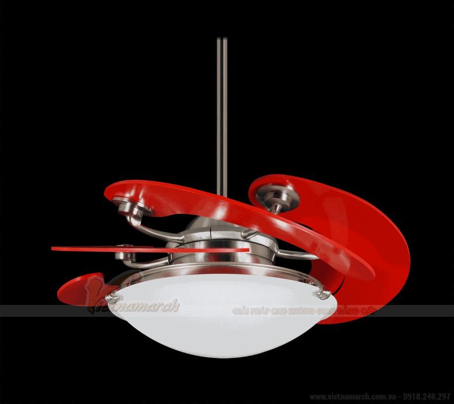 Mẫu đèn quạt trần hiện đại cho phòng khách 05