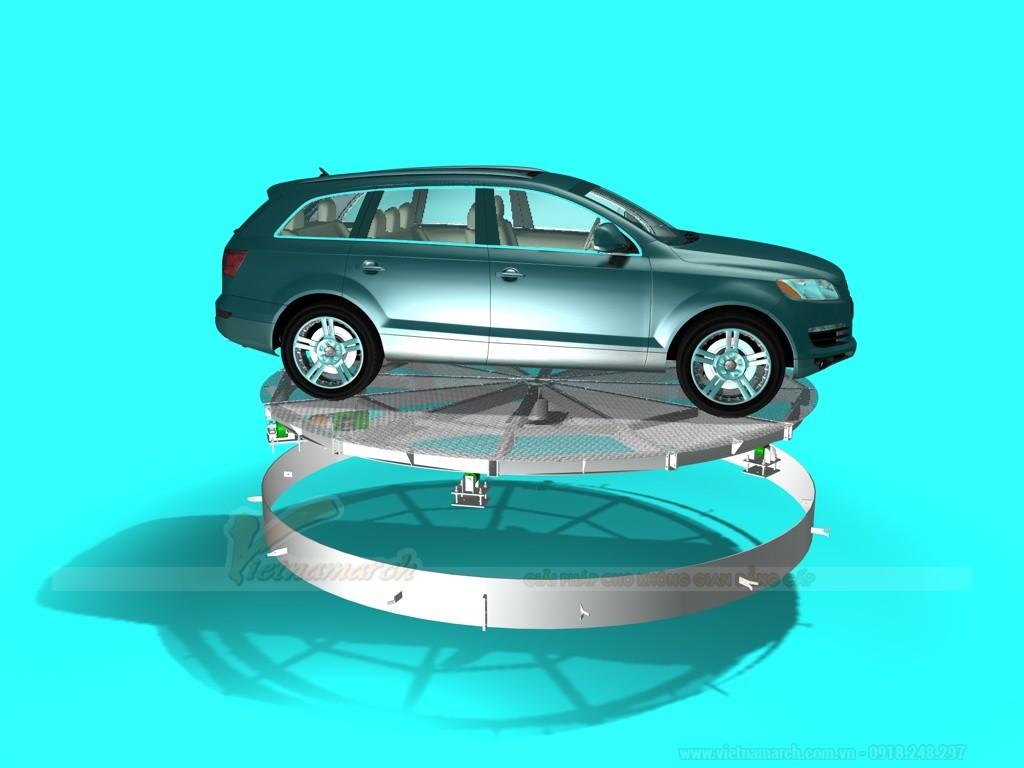 Bàn xoay ô tô phù hợp với gara gia đình và bãi gửi xe quy mô nhỏ
