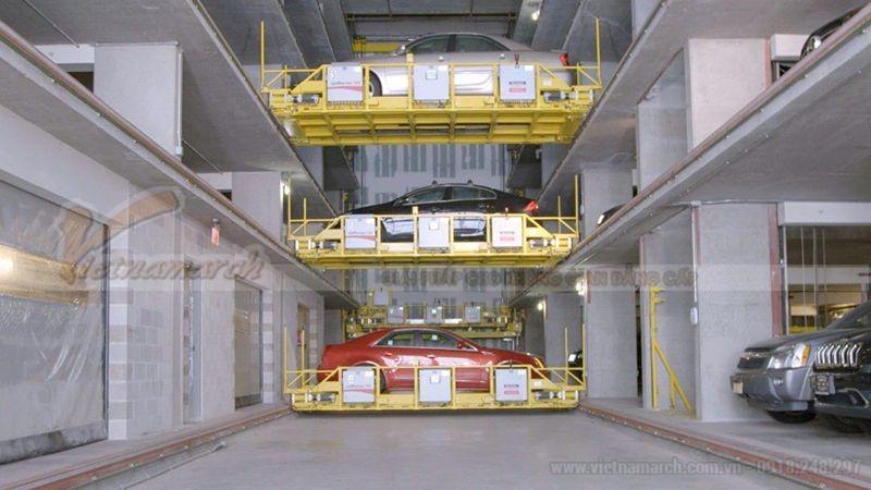 Bãi đỗ xe tự động từng tầng di chuyển độc lập