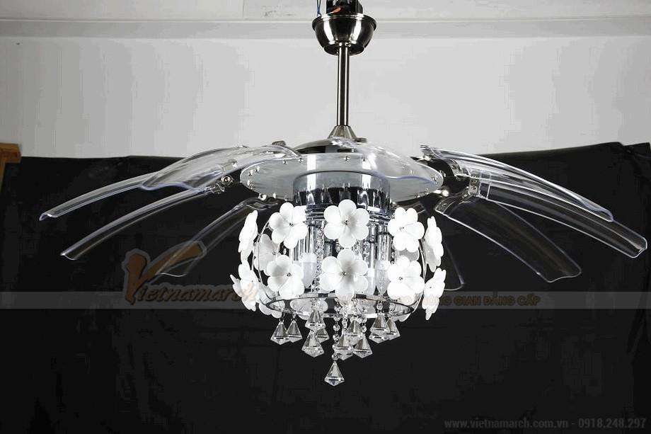 Quạt trần đèn hiện đại và sang trọng