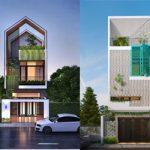 5 mẫu nhà phố 3 tầng hiện đại được thiết kế lỗ thông gió và đón ánh nắng vô cùng độc đáo