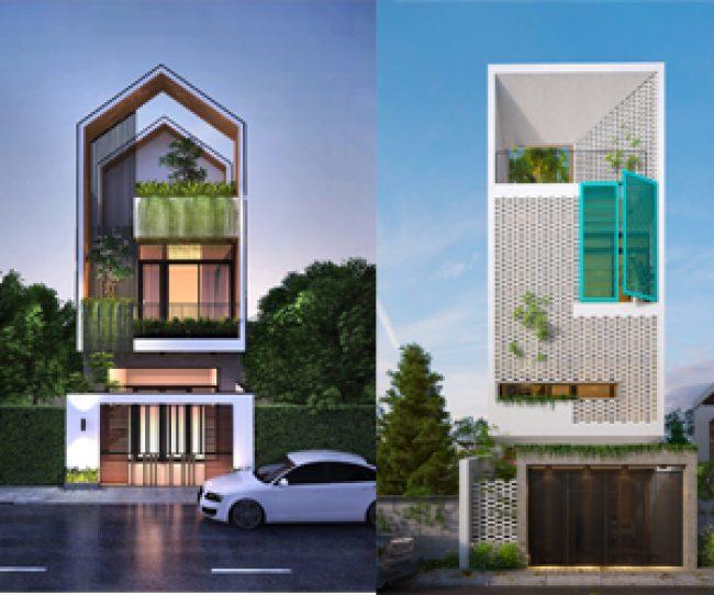 Mẫu nhà phố 3 tầng được thiết kế với hệ thống thông gió và đón ánh nắng vô cùng độc đáo