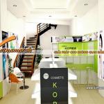 Thiết kế nội thất showroom mỹ phẩm cao cấp