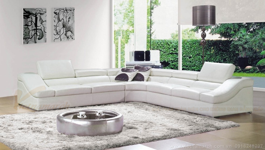 Sofa góc màu trắng lên ngôi trong hè 2019
