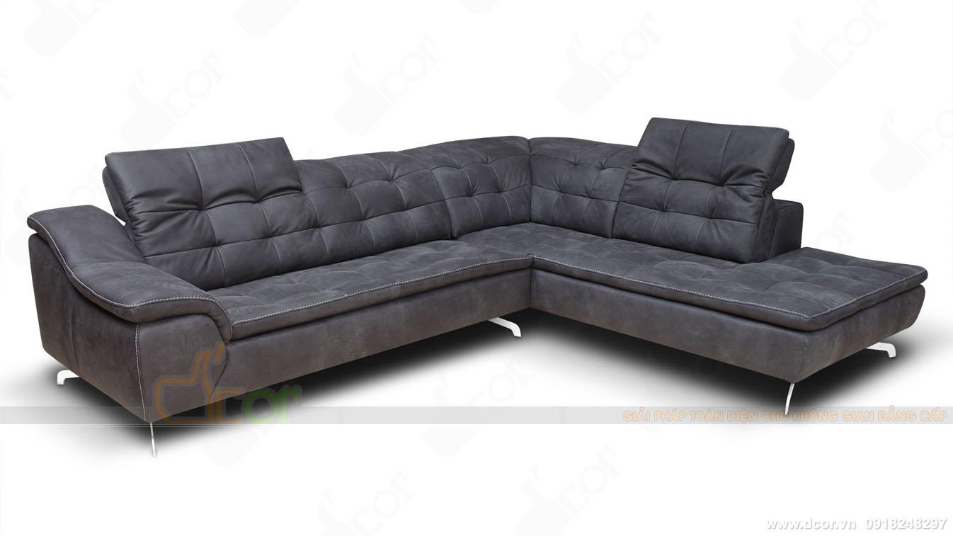 Sofa khung gỗ chất liệu da bò cao cấp nhập khẩu Italia sang trọng bậc nhất cho phòng khách DG1015- Cloud - Italia