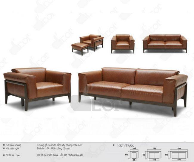 Sofa văng gỗ nhập khẩu Malaysia DV844