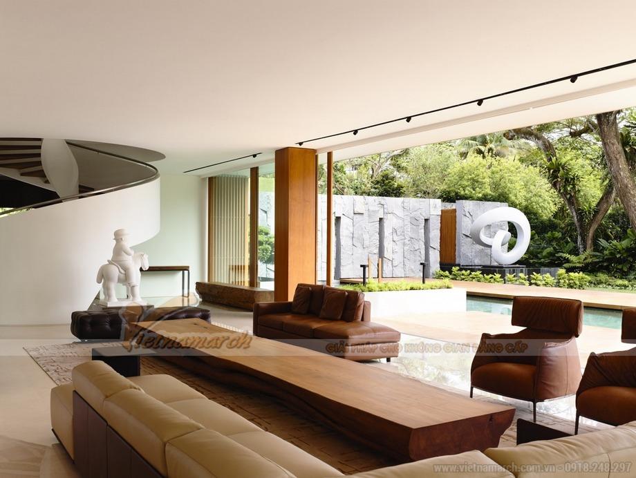 Chiêm ngưỡng thiết kế ấn tượng của căn biệt thự Xanh tại Singapore