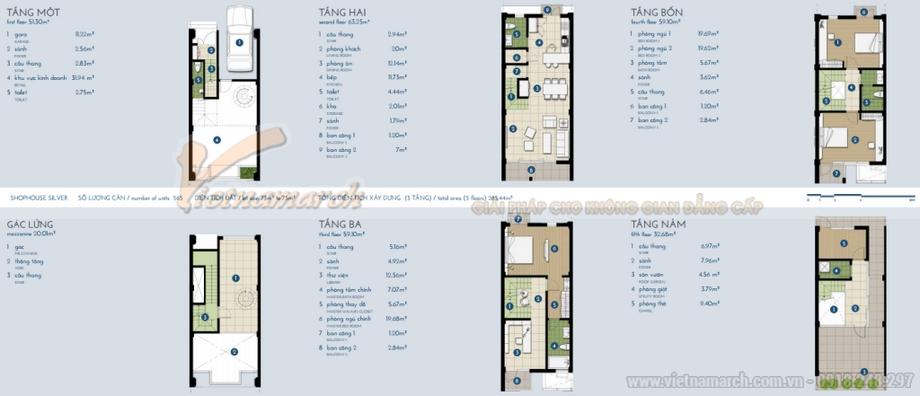 Chiêm ngưỡng thiết kế nội thất hoàn hảo cho nhà phố The Manor Central Park Siler