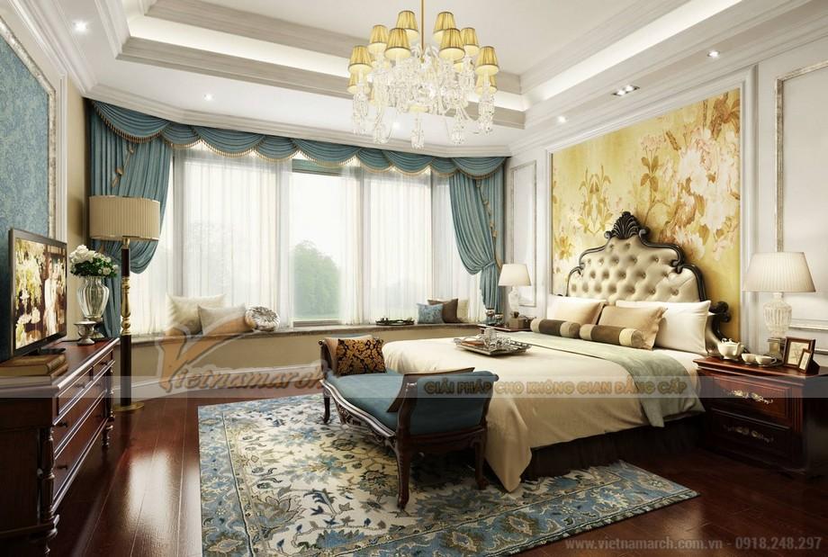 Phòng ngủ tân cổ điển sang trọng và đẳng cấp