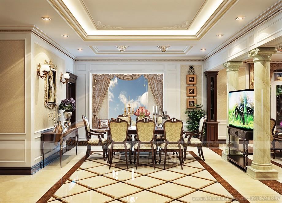 Phòng ăn tân cổ điển sang trọng và tiện nghi