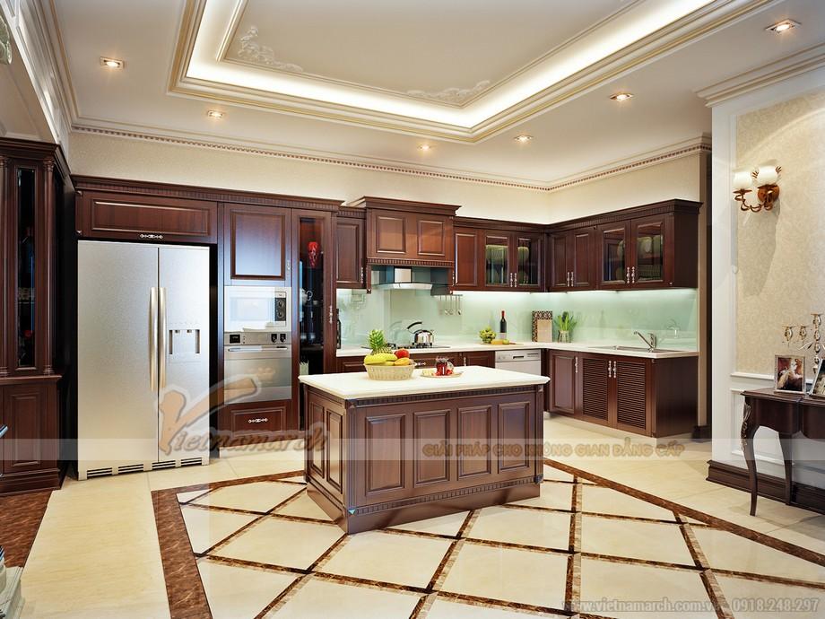 Phòng bếp tân cổ điển sang trọng và tiện nghi