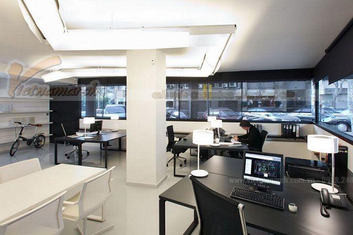 Không gian văn phòng chung tạo sự rộng rãi, thoải mái