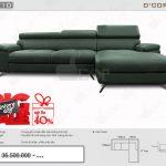 Sofa góc L da thật nhập khẩu Malaysia DG 710 cho phòng khách đẹp độc, lạ