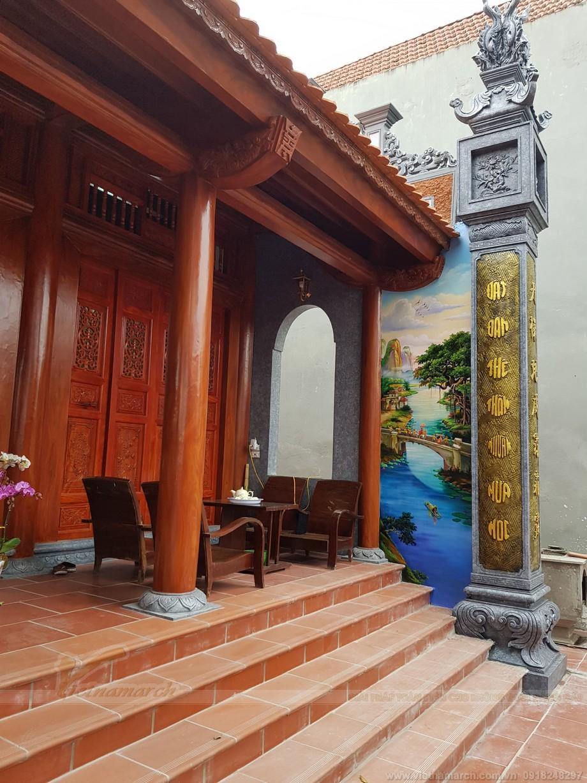 Nhà thờ họ sơn giả gỗ đẹp 6