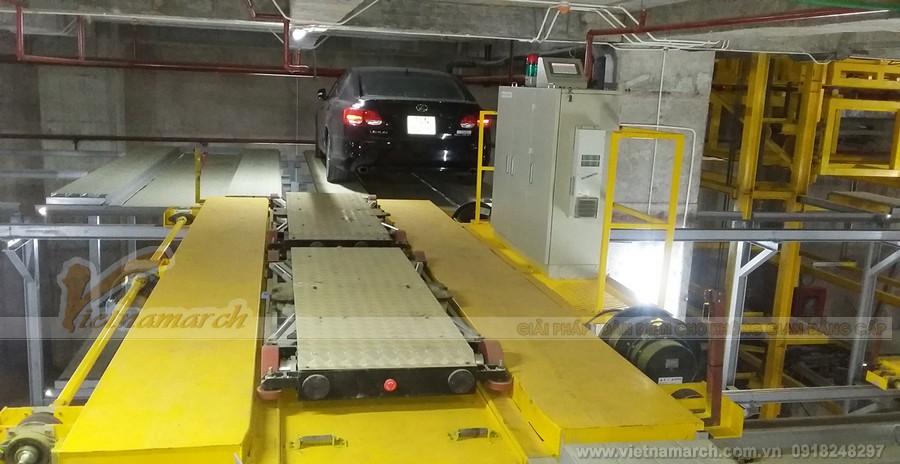 Hệ thống robot tự động đưa phương tiện xuống tầng hầm