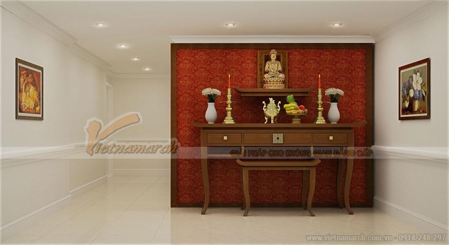 Thiết kế nội thất phòng thờ dành riêng cho căn hộ chung cư