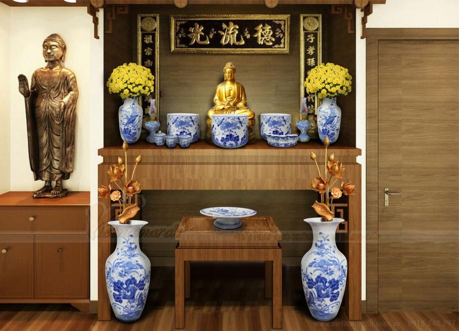 Mẫu bàn thờ Phật tại gia đẹp nhất hiện nay