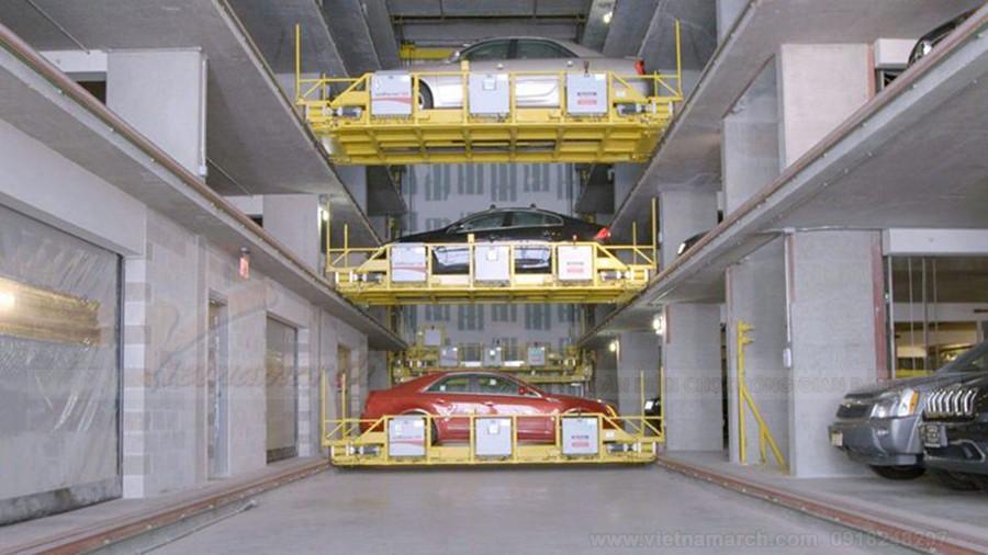 Hệ thống bãi đỗ xe thông minh tự động điều khiển máy tính PLC - công nghệ hiện đại thời @