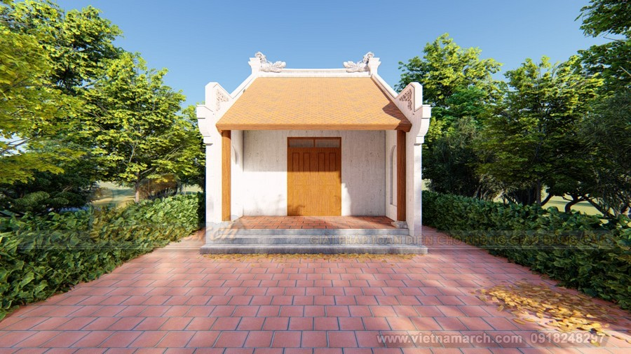 Phương án thiết kế nhà thờ họ diện tích nhỏ của gia đình anh Hùng ở Gia Lâm