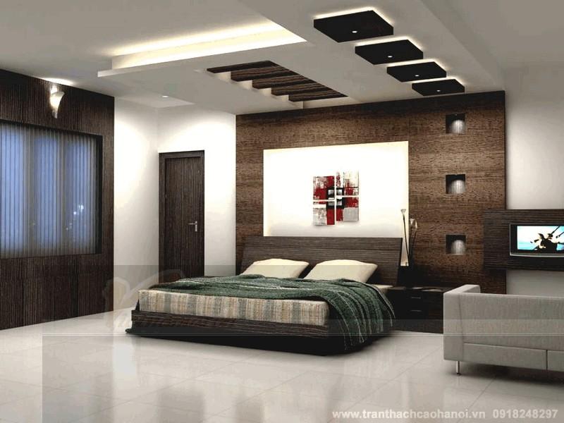 Trần thạch cao sơn giả gỗ đẹp 3