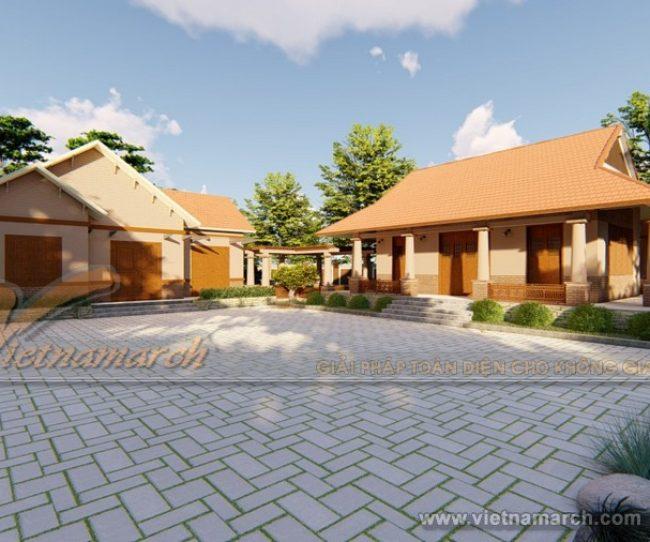 Phương án thiết kế nhà thờ họ 3 gian kết hợp với nhà ở tại Hải Phòng