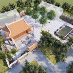Công trình nhà thờ với thiết kế 4 mái độc đáo của gia đình anh Thức ở Sơn Tây