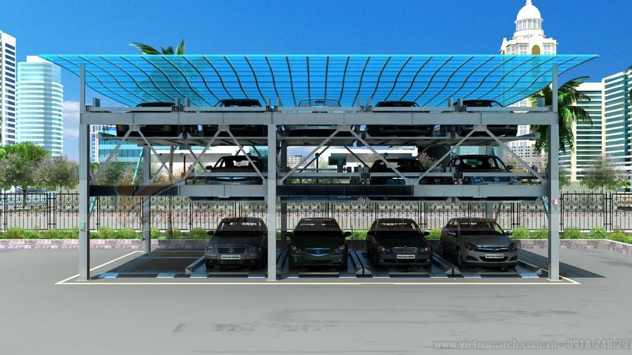 Bãi đỗ xe thông minh dạng xếp hình cho khách sạn chi phí thấp