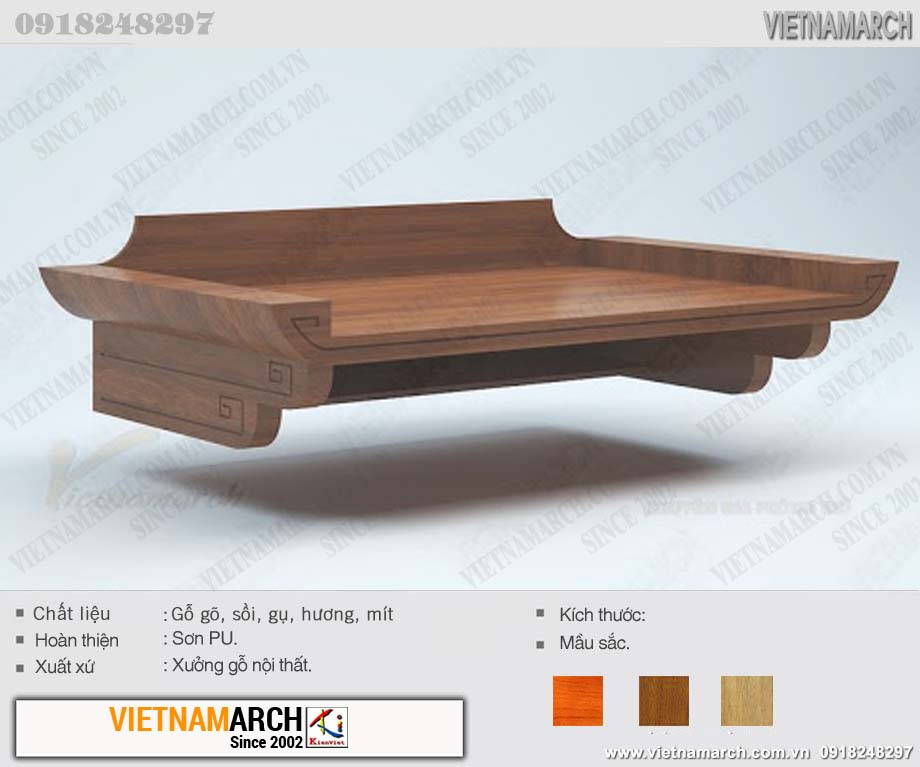mẫu bàn thờ dành riêng cho nhà trọ