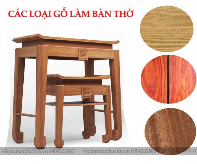 Bàn thờ làm bằng gỗ gì? Loại nào tốt nhất ?