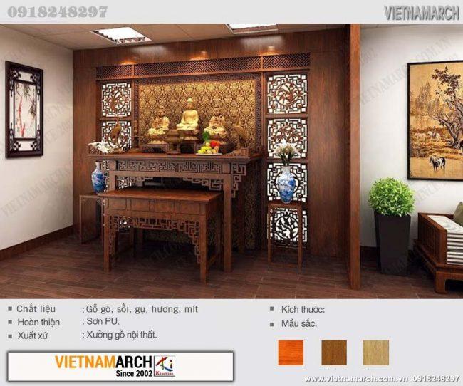 Mẫu bàn thờ Phật tam thế đẹp