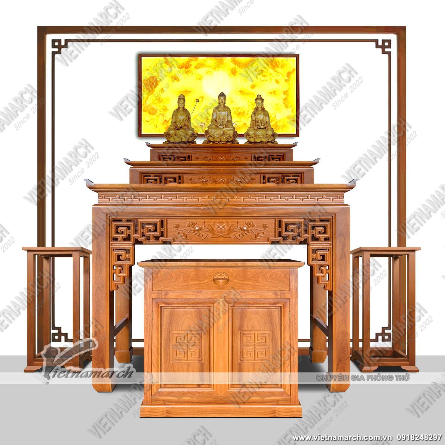 Các mẫu bàn thờ tam cấp đẹp