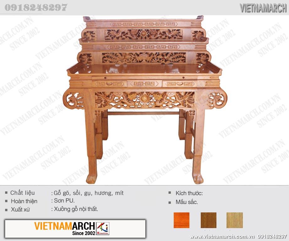 mẫu bàn thờ gia tiên tam cấp đẹp