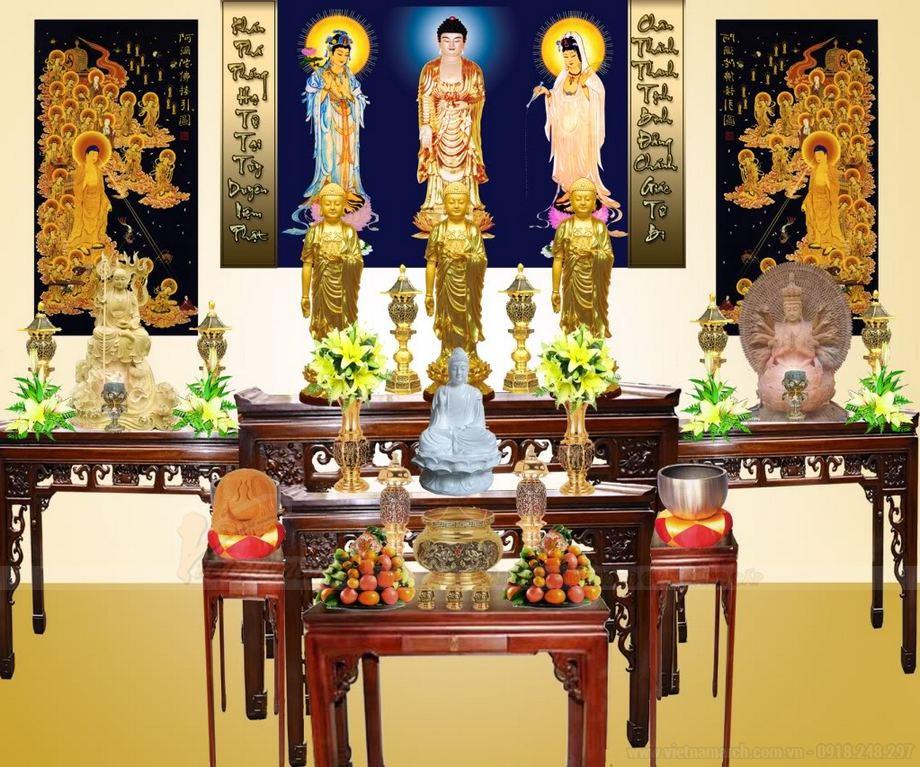Mẫu tượng tam thế Phật đẹp