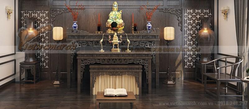 Mẫu bàn thờ phật đẹp 2 tầng