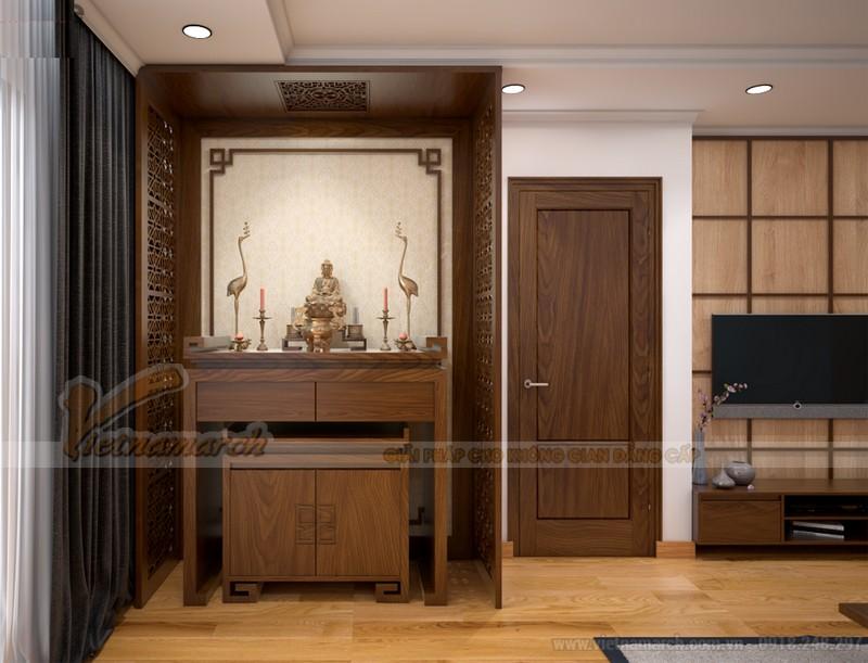 Mẫu bàn thờ phật đơn giản đẹp hiện đại