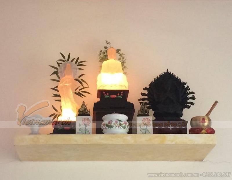 Mẫu bàn thờ phật treo tường đẹp nhất